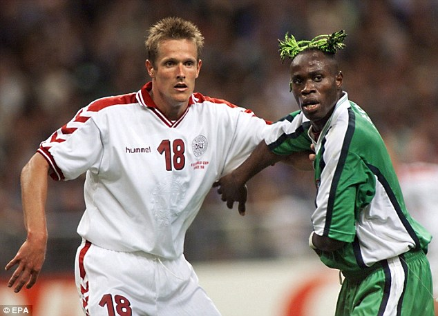 Super Eagle: The Nigeria defender coloured his hair green to go with his national side's kit at France 98