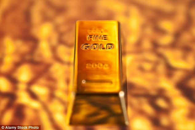 Shiny asset: Gold mining stocks stormed ahead on a day when most shares were mired in the red on London's market