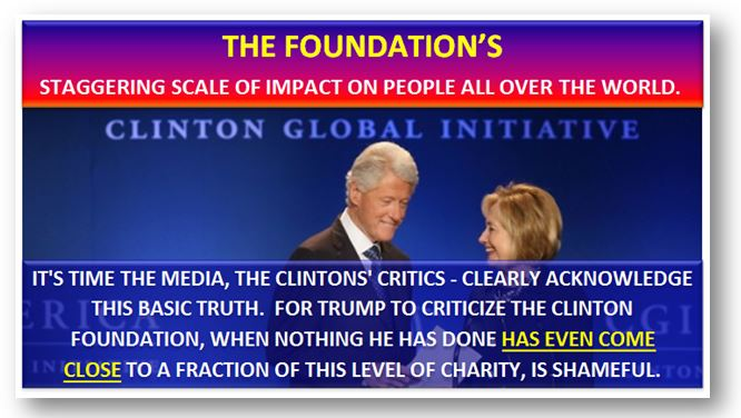 It's time the Clinton Foundation were clearly acknowledged for its world impact