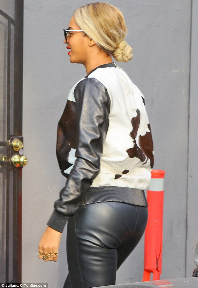 Breaking habits: If Beyoncé is serious about her new vegan lifestyle, she will have to lay off the leather... no matter how good it looks
