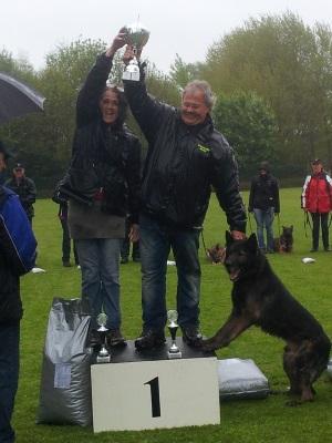 koppelwedstrijd KRG Helmond Miranda en Rob 1e plaats