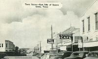 Town Scene, East Side of the Square, Llano, Texas