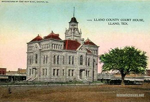 Llano County Courthouse, Llano, Texas early 1900s