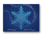 Blue Beaded Snowflake