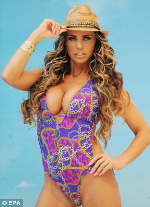 British celebrity Katie Price poses for a photograph during the media