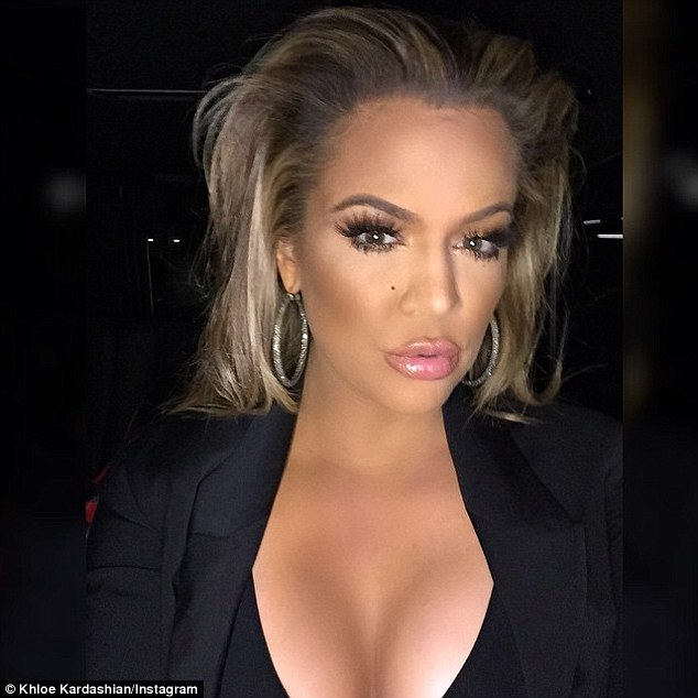 Hello New York! Khloe posted this selfie the same day sister Kim, 34, was promoting Selfish in the Big Apple