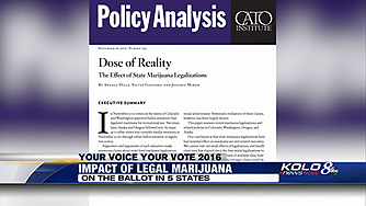 """Jeffrey A. Miron discusses his co-written study """"Dose of Reality: The Effect of State Marijuana Legalizations"""" on Gray TV"""