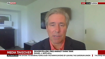 Daniel J. Mitchell discusses the AT&T - Time Warner buyout on SkyNews
