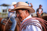 Lodge Grass, MT. Gale Three Irons helps run the youth rodeo.  Many natives on the reservation are self-described as 'Indian Cowboys.'