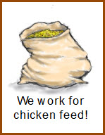 Picture of a sack of chicken feed