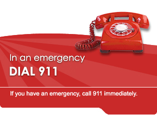 In an emergency DIAL 911