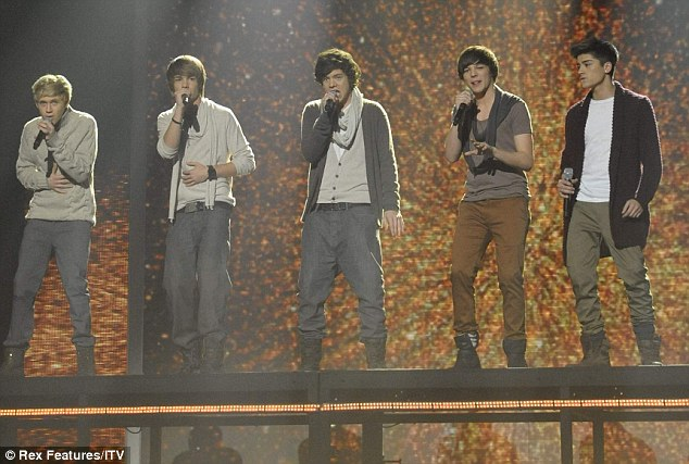 Big future ahead of them: One Direction's performed Natalie Imbruglia's Torn to huge cheers from the crowd