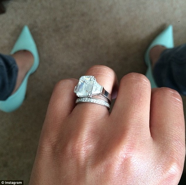 Handing over: The former X Factor judge is believed to also be handing over £15,000 wedding band as part of her divorce settlement, according to the Sunday People