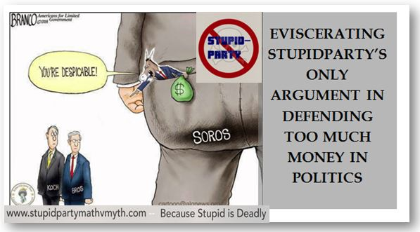 Eviscerating Stupidparty's only argument in defending too much money in politics—SOROS