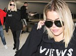 Khloe Kardashian arrives back in Los Angeles looking fierce after visiting NBA boyfriend Tristan Thompson in Cleveland. Reports surfaced that Khloe is soon to be engaged, and may be looking to permenately relocate to Cleveland to be with Tristan. November 2, 2016 X17online.com
