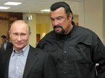 Hollywood star Seagal and judo-loving Kremlin tough guy Putin have struck up a bromance in recent years ©Alexei Nikolsky (AFP/File)