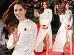 Mandatory Credit: Photo by James Gourley/REX/Shutterstock (6954371v)\nCatherine Duchess of Cambridge\n'A Street Cat Named Bob' world film premiere, London, UK - 03 Nov 2016\n