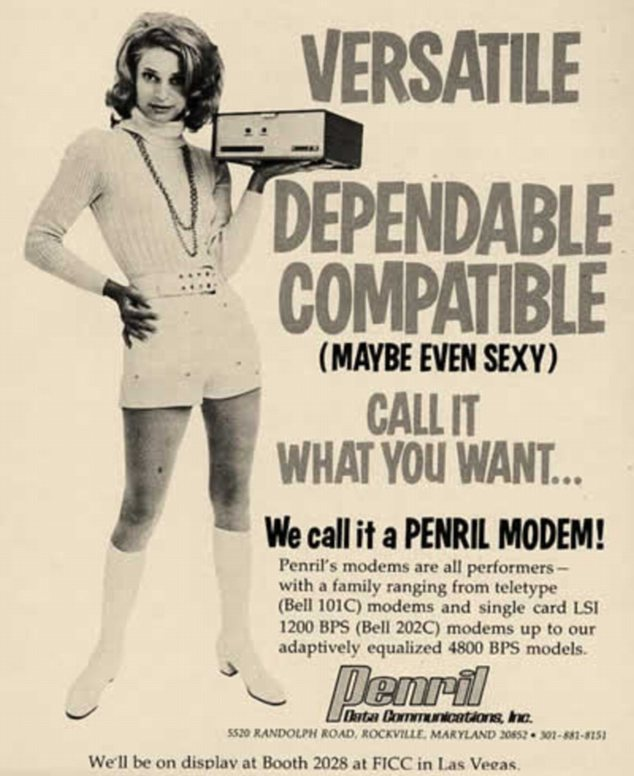 'Maybe even sexy': This glamorous 1971 advert is trying to sell a modem, of all things
