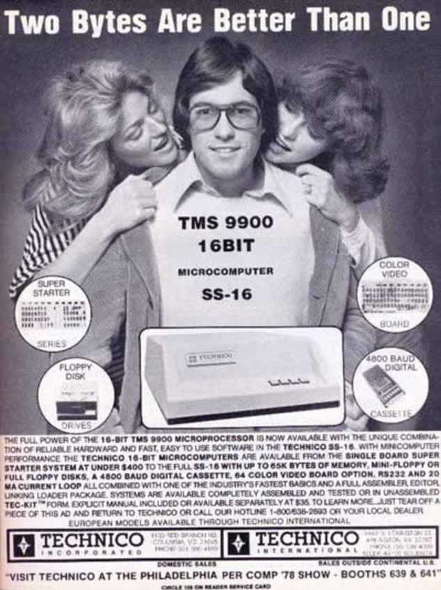 Girl power: Technico Inc also used sex appeal to sell their 'microcomputer' in 1978