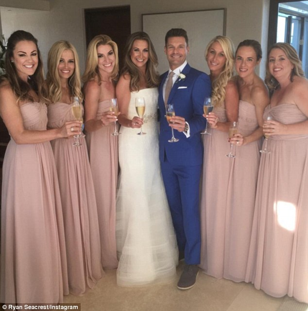 'Trying to fit in!': Ryan Seacrest served as his sister, Meredith's Man of Honor as she tied the knot in an intimate Mexico wedding on Saturday