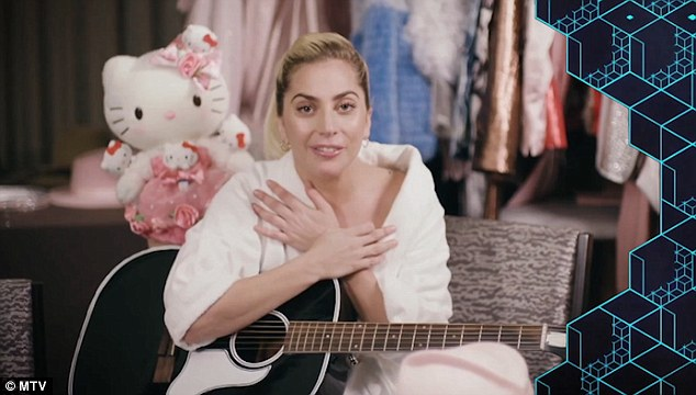 Acceptance: Lady Gaga thanked her fans via video from Tokyo as she scooped two gongs - Best Look and Best Female