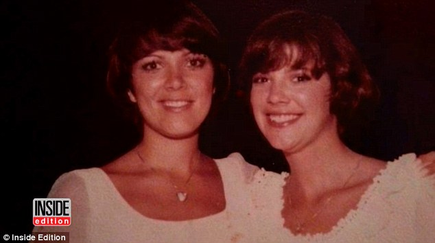 Siblings: Karen (right) is three years younger than her sister Kris (left)