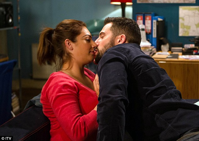 Unwanted attention: Ross Barton is set to push his luck once again in an upcoming episode of Emmerdale, planting an unwanted smacker on his sister-in-law Victoria Barton's lips