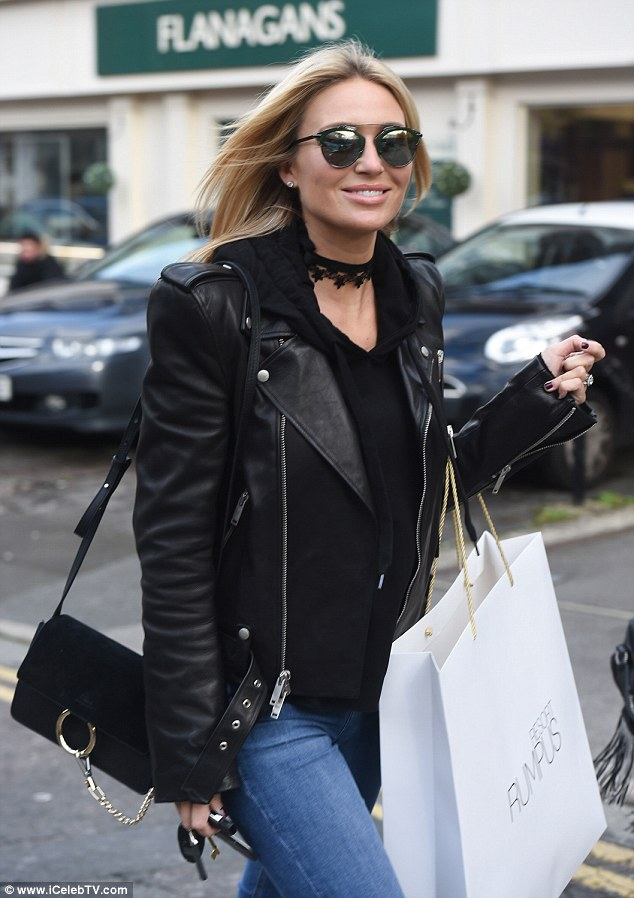 Retail therapy:Alex- who splits her time between Liverpool and LA where her husband plays for LA Galaxy, was spotted shopping at the Rumpus Resort, a swimwear boutique