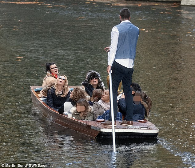Boat trip! The group have been performing Stepping Out at the Cambridge Arts Theatre since Monday, with Saturday being their final night at the venue