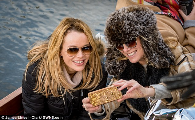 Selfie sisters! Amanda Holden enjoyed a breakaway from the stage as she celebrated her co-star and pal, Tamzin Outhwaite's 46th birthday in style, punting on the River Cam in Cambridge on Saturday