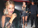 New York, NY - The power couple of the century, Beyonce and Jay Z, are seen arriving to the SNL after party with a very proud Solange who made her musical debut on the popular sketch show. They were also joined by Tina Knowles, and Solange's devoted husband Alan Ferguson.\nAKM-GSI         November 05, 2016\nTo License These Photos, Please Contact :\nMaria Buda\n(917) 242-1505\nmbuda@akmgsi.com\nsales@akmgsi.com\nor \nMark Satter\n(317) 691-9592\nmsatter@akmgsi.com\nsales@akmgsi.com\nwww.akmgsi.com