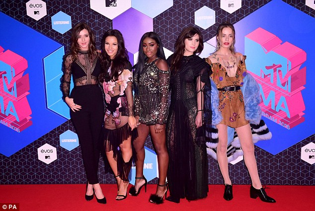Here come the girls: The events' style influencers arrived en mass (L-R) Eleanor Calder, Monica Gauze, Sandra Lambeck, Betty Autier and Sonya Esman