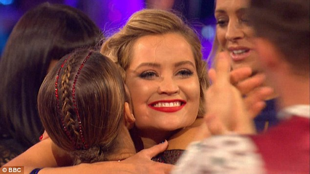 One for the road: Laura received hugs from the other stars as she said her goodbyes