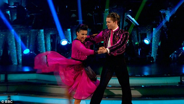 Passionate in pink: Claudia Fragapane and AJ Pritchard finished off the show with a passionate Paso Doble that earned them a respectable 33 points