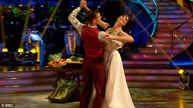 Impressive: Daisy Lowe and Aljaz scored an impressive 34 with their Viennese Waltz to Daisy Bell