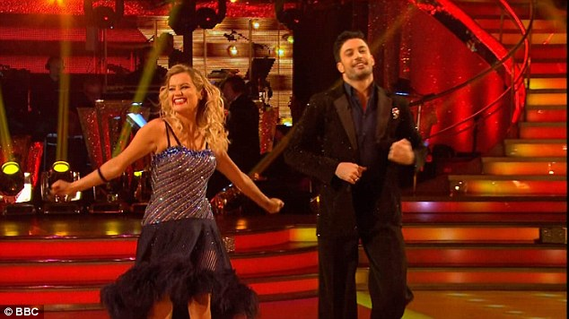 Shaking it off: Laura shrugged off her sadness that was visible from the night before