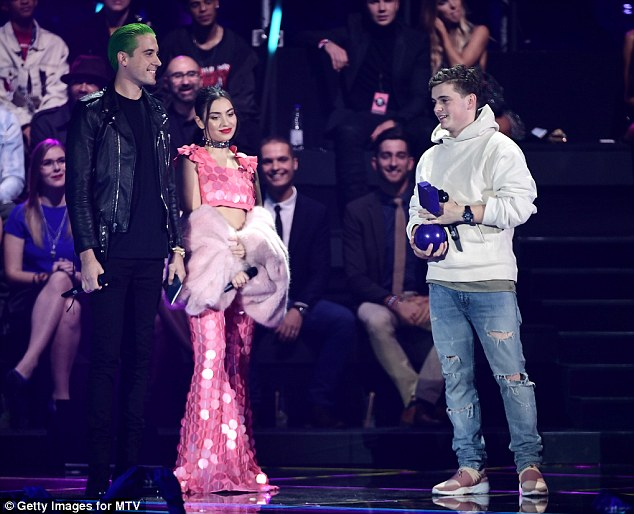Winner: G-Eazy and Charli  present the award for Best Electronic to Martin Garrix