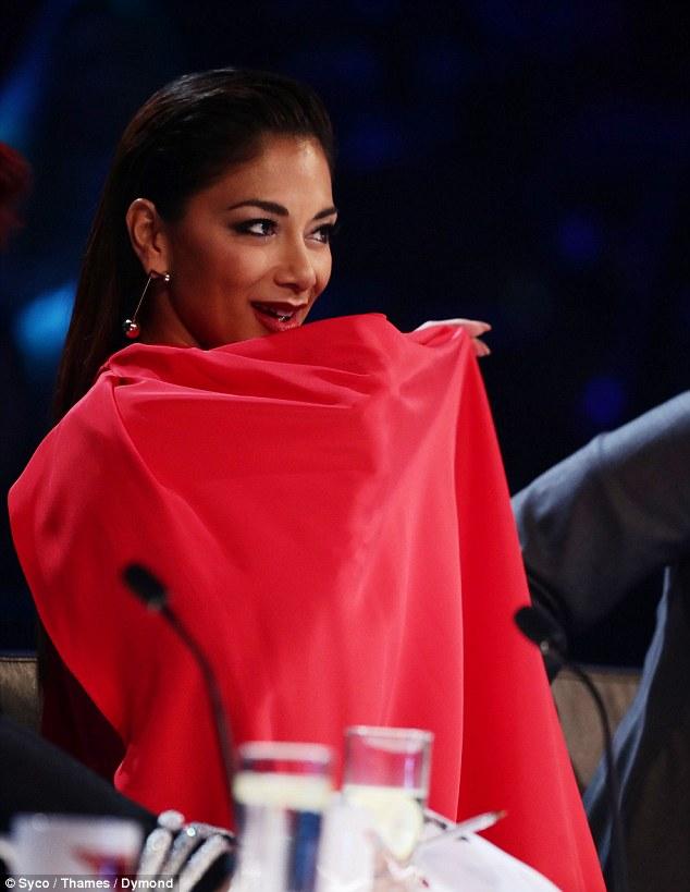 Seductive: Nicole sent pulses in the studio racing with her daring dance