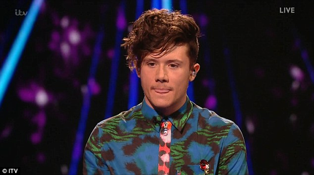 Proving himself: Next Ryan Lawrie performed, after admitting he was hurt by the response from the public after he was chosen over Gifty Louise last week