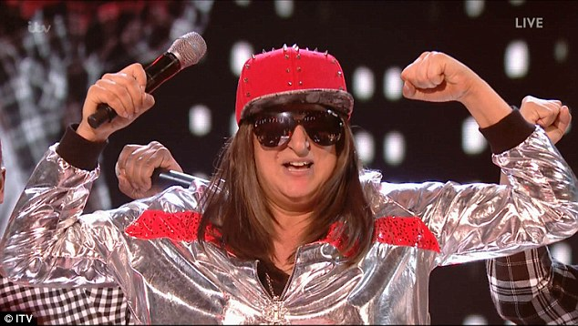 Still going: The next acts to grace viewers was Honey G, who sung Jump by Kris Kross, apparently inspired by them when she watched them in concert aged 13