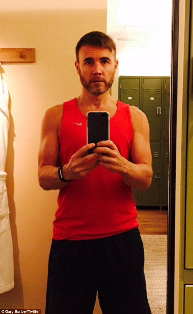 Magic! Gary Barlow, 45, brought joy and excitement to his fans on Twitter as he shared a gym selfie