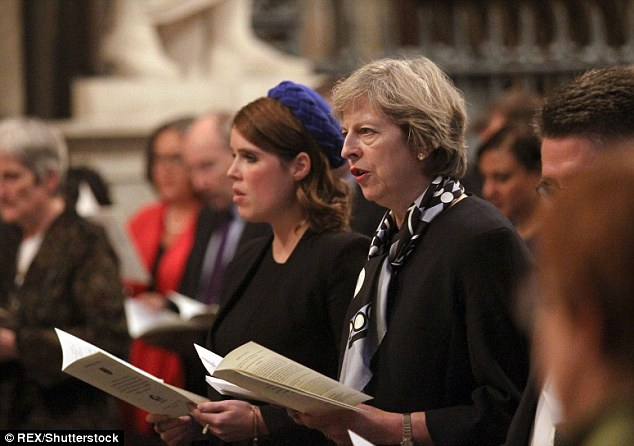 Fashion conscious Theresa May has given her seal of approval to silk scarves made by a charity set by Princess Eugenie