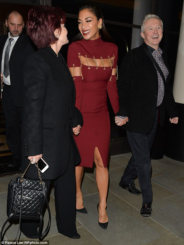 The judges that dine together...: Sharon Osbourne, Louis Walsh, and Simon Cowell also attended the dining experience
