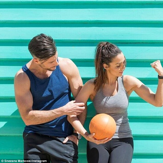 Skinny mini! The 36-year-old quickly shed her Bachie weight after doing Sam Wood's popular fitness program