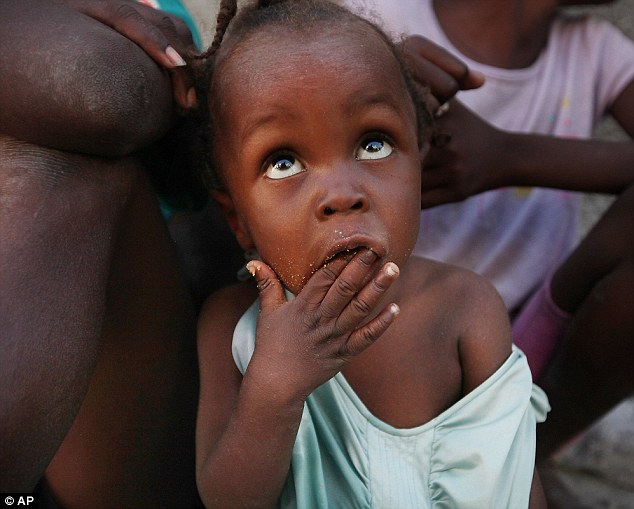 Vulnerable: Young children in Haiti are being sold by their parents for as little as 76 pence