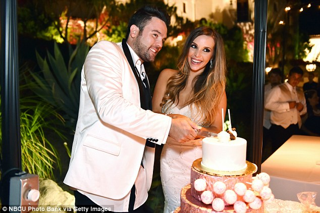 Special day: The couple wed in 2014 in a ceremony at the Hummingbird Nest Ranch in Santa Susana, California