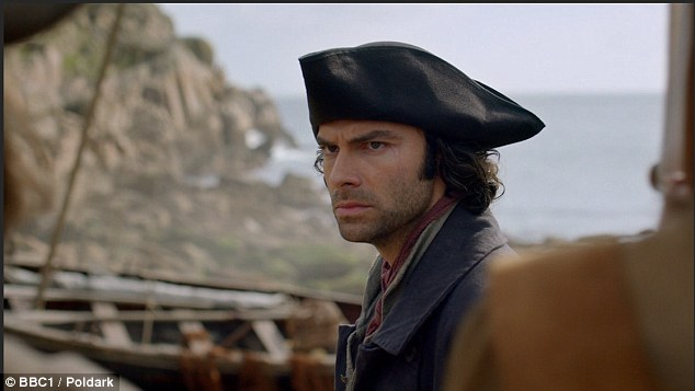 """Aidan Turner will be back as Poldark and in the third series will """"traverse new family, new loves and new battles, as the French revolution casts a shadow over life in Cornwall'"""
