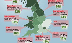 Where will house prices rise the most over five years?