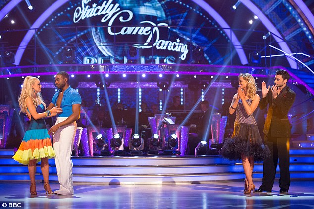 Dance off: After finding themselves in the bottom two, Laura and Giovanni danced off against Ore Oduba and Joanne Clifton in a bid to save their spot