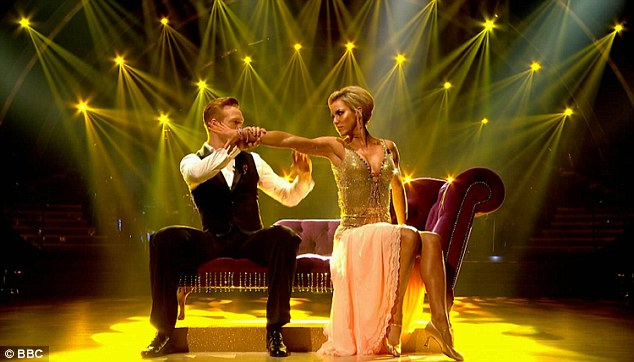 Stylish but not a showstopper: Greg Rutherford and Natalie Lowe attempted to catch up, but couldn't rival Louise with a score of just 32 for their Viennese Waltz